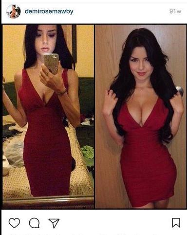 Demi Rose Mawby Before Plastic Surgery 1