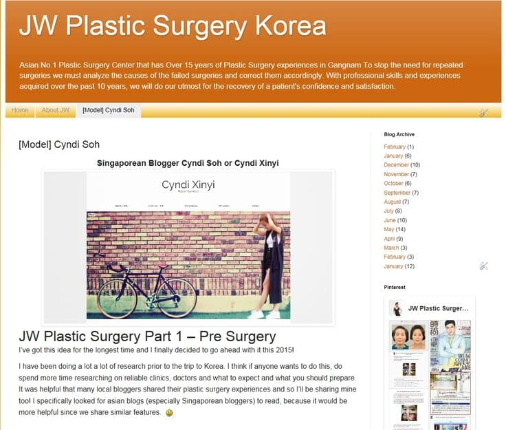 Jw Korean Plastic Surgery Before And After 1