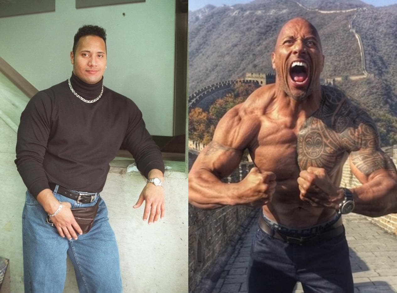 Dwayne Johnson Plastic Surgery Before And After 1
