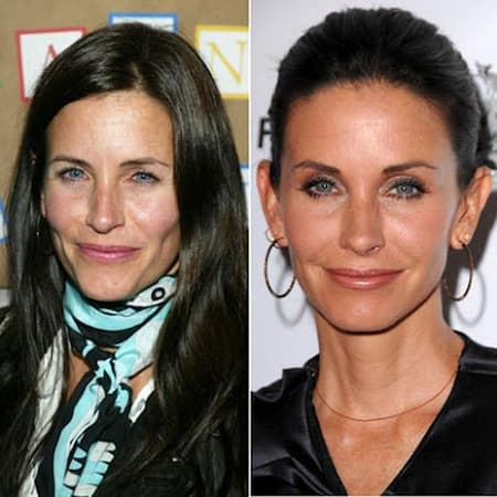 Courteney Cox Plastic Surgery Before And After 2012 1