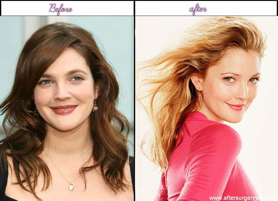 Drew Barrymore Before Plastic Surgery 1