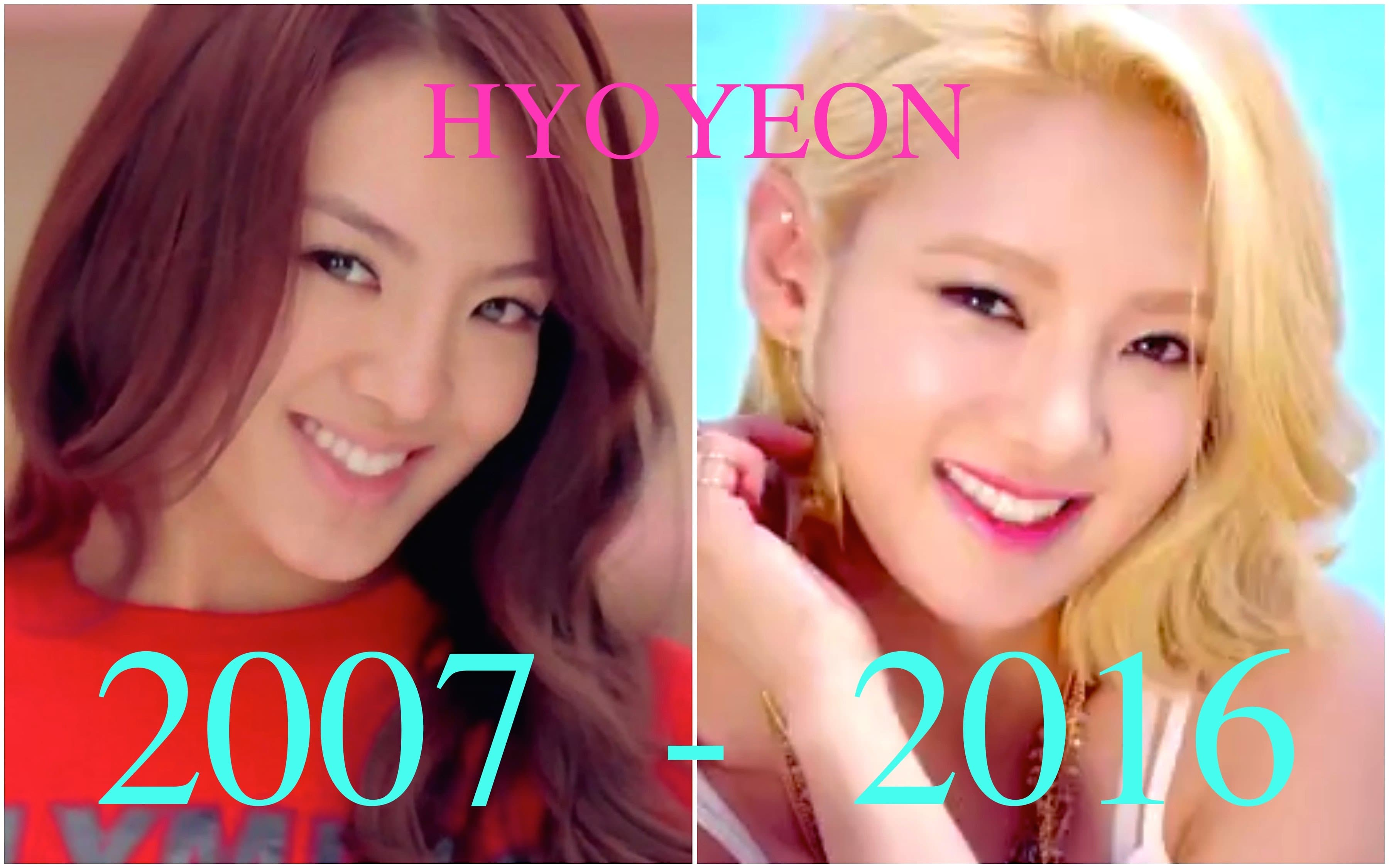 Korean Plastic Surgery Before After Hyoyeon photo - 1