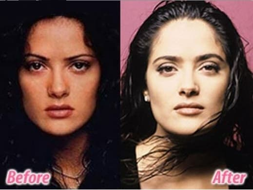 Selma Hayek Before Plastic Surgery photo - 1