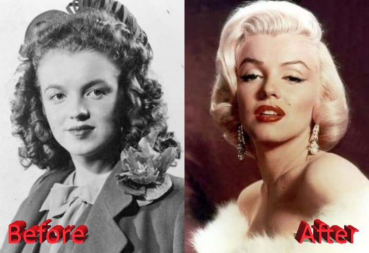 Marilyn Monroe Before After Plastic Surgery 1