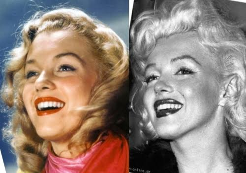Marylyn Monroe Before After Plastic Surgery 1