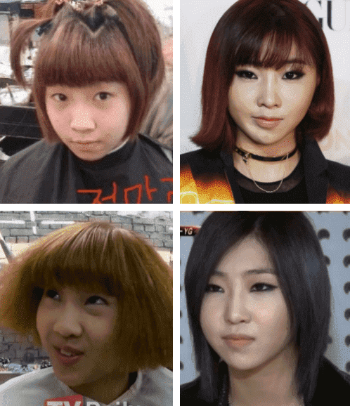 Minzy 2Ne1 Before And After Plastic Surgery 1