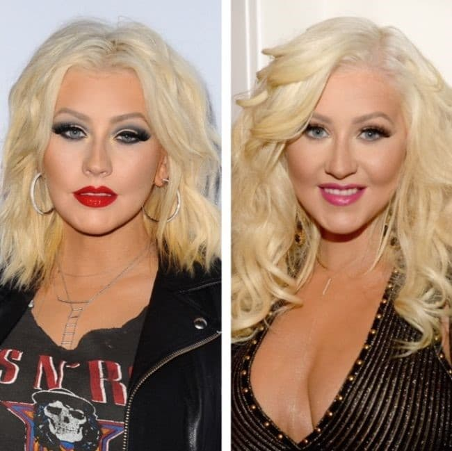 Christina Aguilera Before And After Plastic Surgery photo - 1