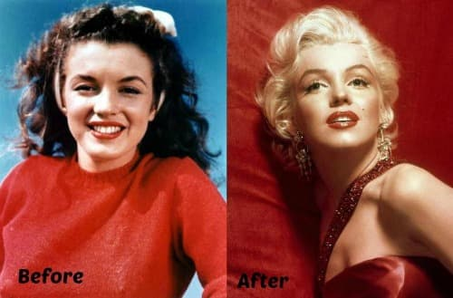 Marilyn Monroe Before And After Plastic Surgery 1