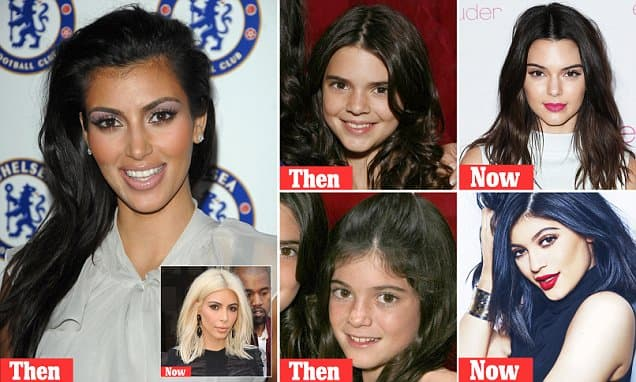 Kardashians Before They Discovered Plastic Surgery 1